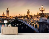 Pont Alexandre III, Paris mural wallpaper living room preview
