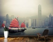 Hong Kong Harbour Mist wall mural kitchen preview