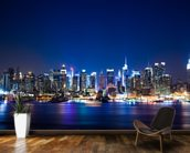 Manhattan Night Skyline mural wallpaper kitchen preview