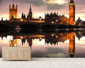 Houses of Parliament Reflection wall mural living room preview