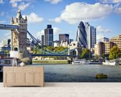 River Thames wallpaper mural living room preview