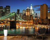 Sunset Brooklyn Bridge wall mural kitchen preview