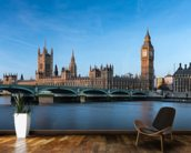 London Houses of Parliament mural wallpaper kitchen preview