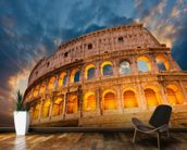 Rome Colosseum wallpaper mural kitchen preview