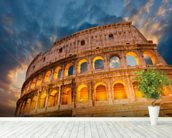 Rome Colosseum wallpaper mural in-room view