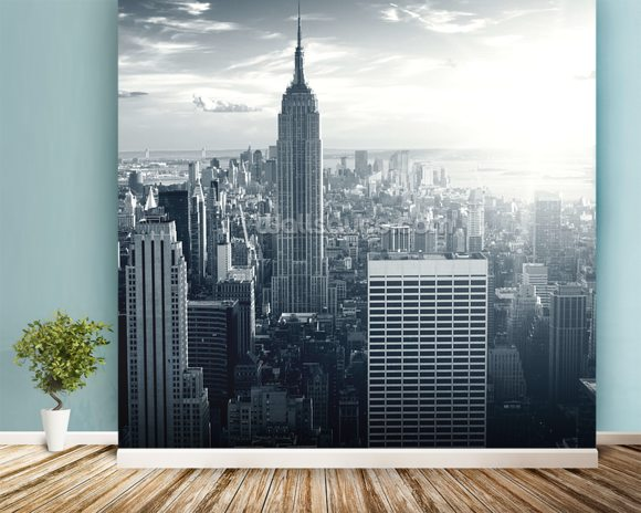 Empire state building wallpaper wall mural wallsauce for Empire state building wall mural