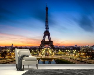 Paris at Night Wallpaper Wall Murals