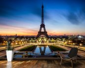 Paris at Night mural wallpaper kitchen preview