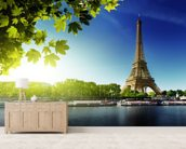 River Seine wallpaper mural living room preview