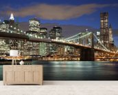 NY Brooklyn Bridge wallpaper mural living room preview