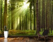 Panoramic Woodland mural wallpaper kitchen preview