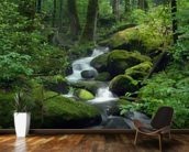 Mossy Waterfall wall mural kitchen preview