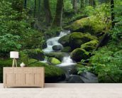 Mossy Waterfall wall mural living room preview