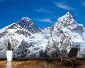 Everest and Lhotse mountain peaks view from Kala Pattar, Nepal mural wallpaper kitchen preview