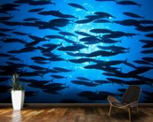 School of Fish wallpaper mural kitchen preview