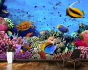 Coral Colony on a Reef wallpaper mural kitchen preview