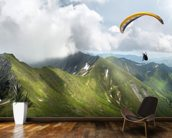 Paraglider in the Mountains wall mural kitchen preview