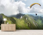 Paraglider in the Mountains wall mural living room preview