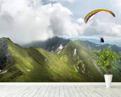 Paraglider in the Mountains wall mural in-room view