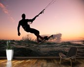Kite boarding. Kitesurf freestyle wallpaper mural kitchen preview