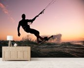 Kite boarding. Kitesurf freestyle wallpaper mural living room preview