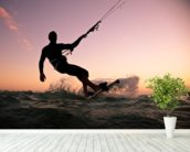 Kite boarding. Kitesurf freestyle wallpaper mural in-room view