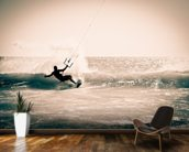 Kitesurfing in Andalusia, Spain. wall mural kitchen preview