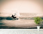 Kitesurfing in Andalusia, Spain. wall mural in-room view