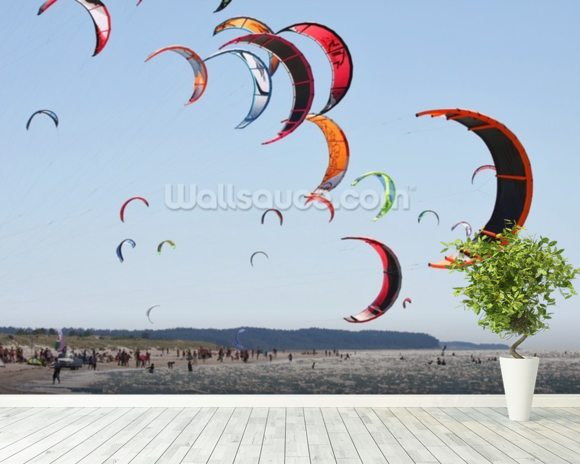 Kiteboarding competition wallpaper mural room setting