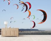Kiteboarding competition wallpaper mural living room preview