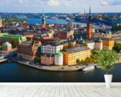 Stockholm wall mural in-room view