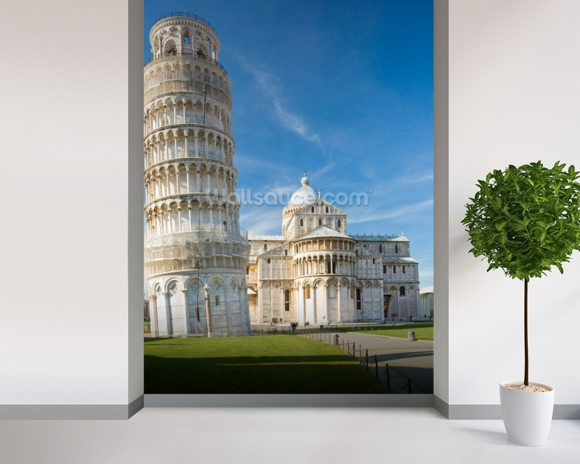 Leaning Tower, Pisa wallpaper mural room setting