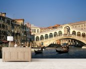 Venice Rialto Bridge mural wallpaper living room preview