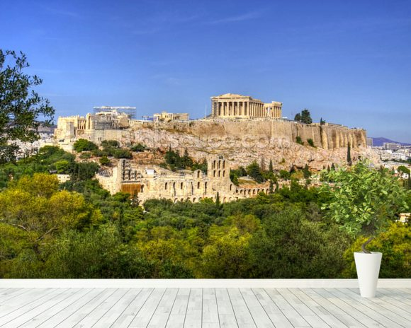 Acropolis mural wallpaper room setting