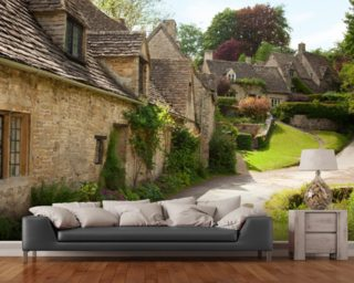 English Cotswold Cottages wall mural