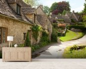 English Cotswold Cottages wall mural living room preview