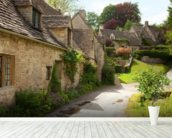 English Cotswold Cottages wall mural in-room view