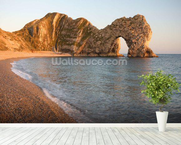 Durdle Door Sea Arch Dorset wallpaper mural room setting & Durdle Door Sea Arch Dorset Wallpaper Wall Mural | Wallsauce