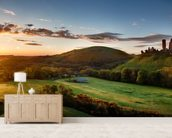 Corfe Castle Sunrise wall mural living room preview