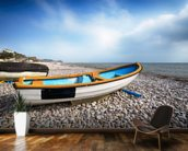 Boats at Budleigh Salterton wallpaper mural kitchen preview