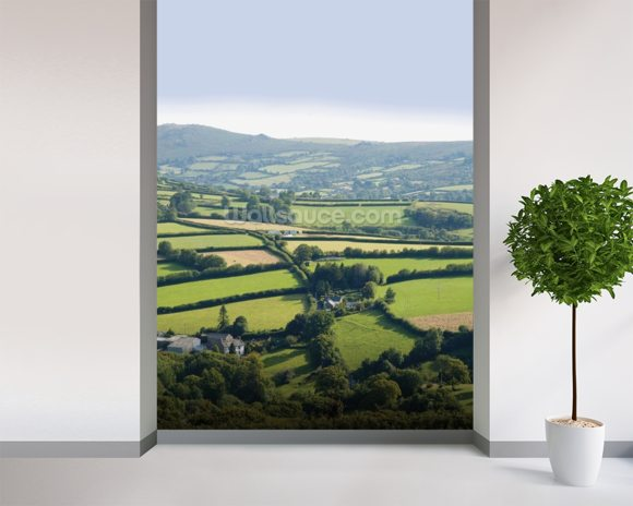 Devon wallpaper mural room setting