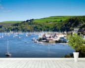 Kingswear Devon wall mural in-room view
