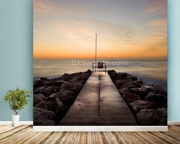 Winter Sunrise at Sandbanks wallpaper mural room setting