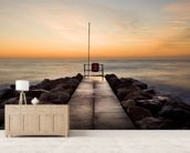 Winter Sunrise at Sandbanks wallpaper mural living room preview