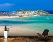St Ives Beach mural wallpaper kitchen preview