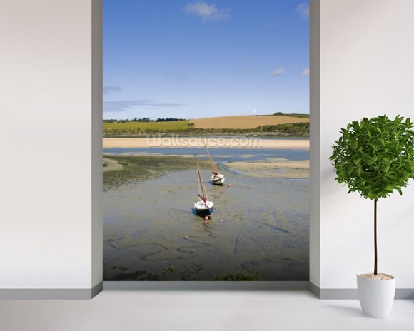 Cornwall Camel Trail wall mural room setting