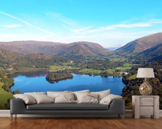 Grasmere from Loughrigg Fell wallpaper mural