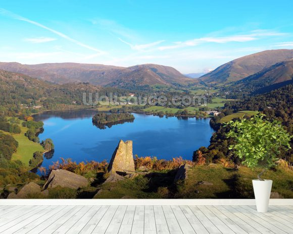 Grasmere from Loughrigg Fell wallpaper mural room setting