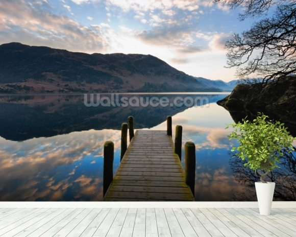Ullswater Jetty mural wallpaper room setting