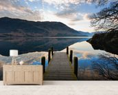 Ullswater Jetty mural wallpaper living room preview